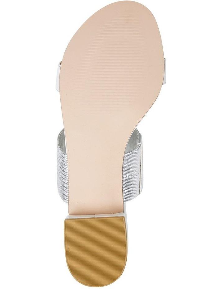 Jane Debster ENVY White/Silver Metallic Sandal image 6