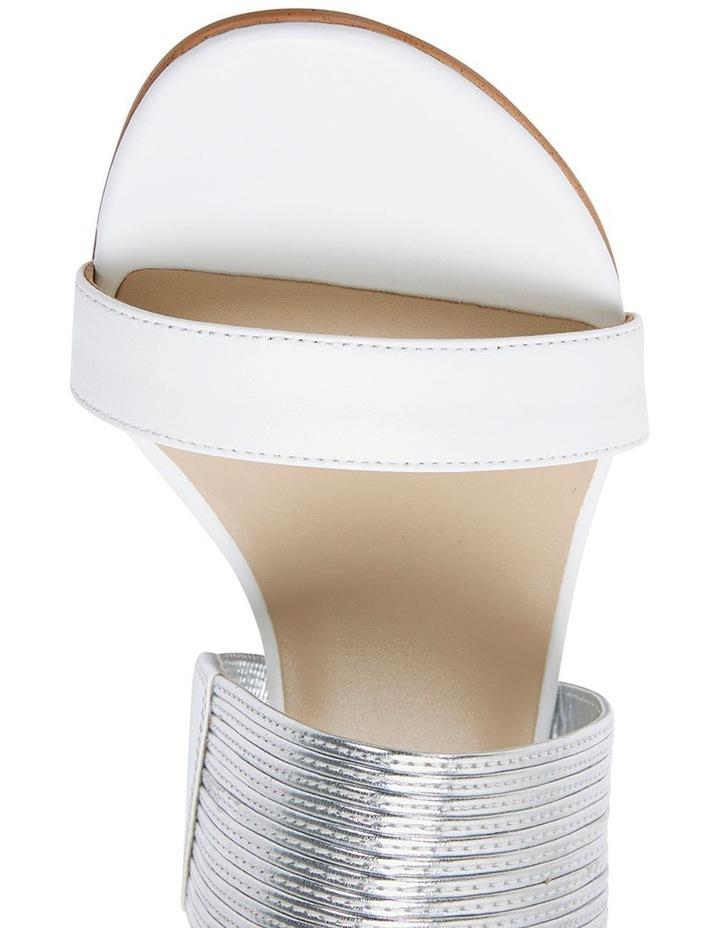 Jane Debster ENVY White/Silver Metallic Sandal image 7