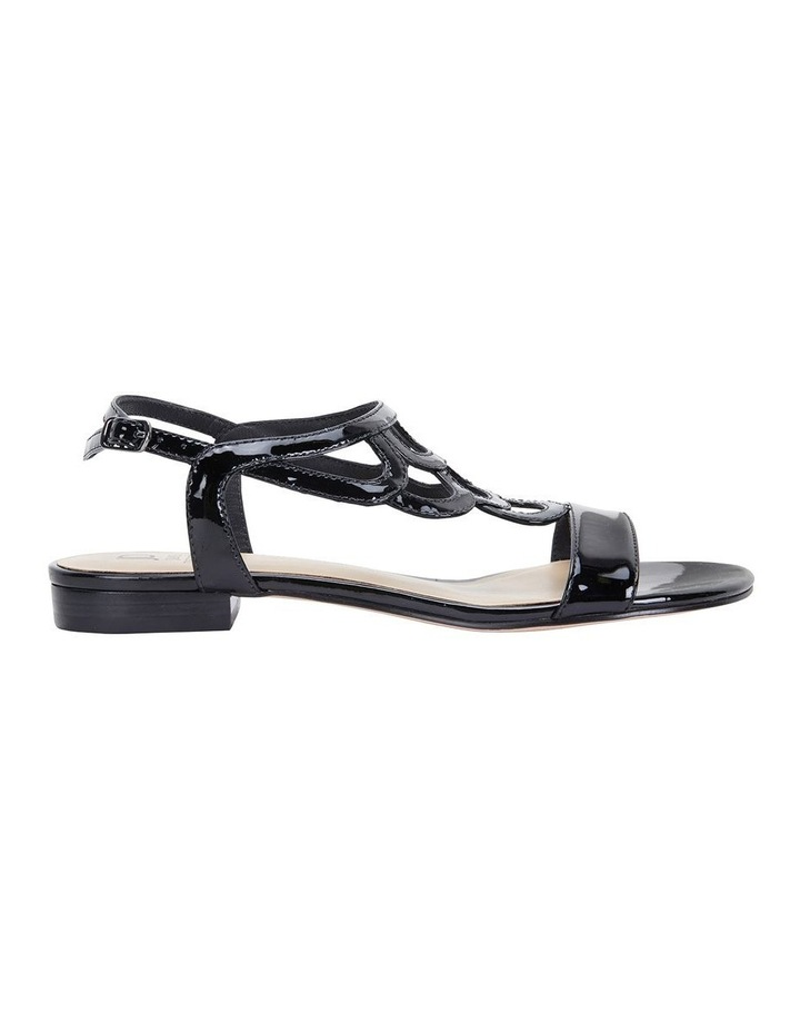 Jane Debster TAHITI Black Patent Sandal image 1