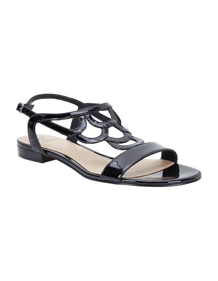 Jane Debster TAHITI Black Patent Sandal image 2