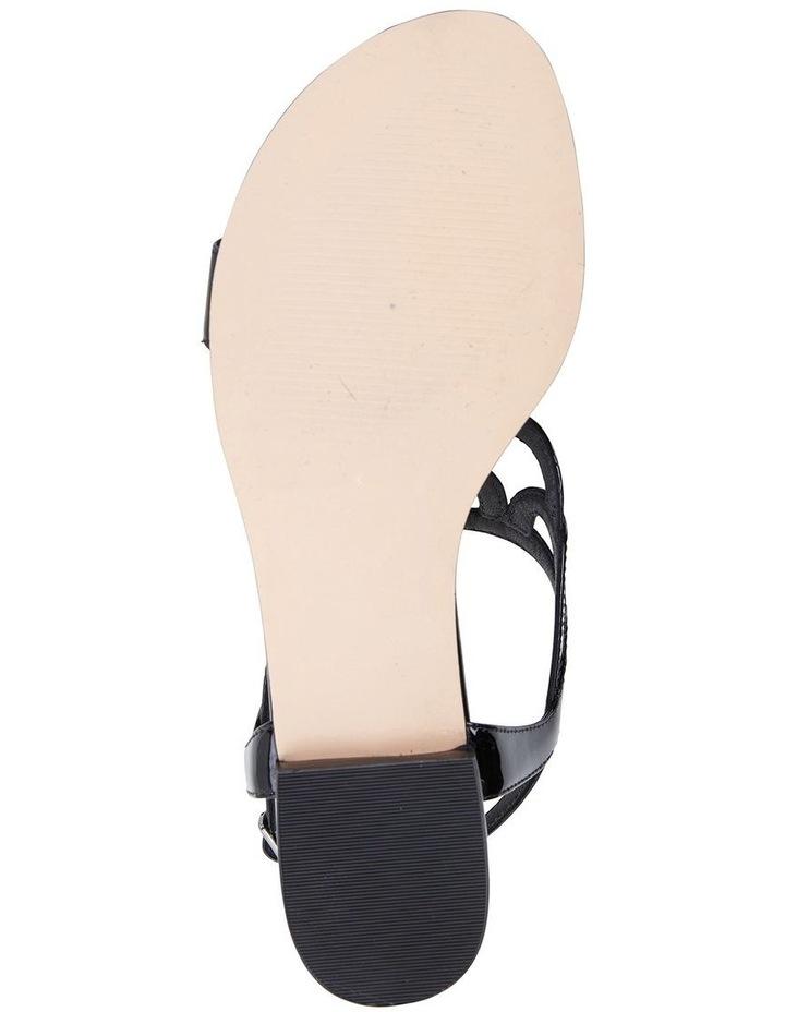 Jane Debster TAHITI Black Patent Sandal image 6