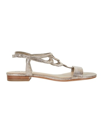 38730486ae140 Jane DebsterJane Debster TAHITI Gold Metallic Print Sandal. Jane Debster  Jane Debster TAHITI Gold Metallic Print Sandal