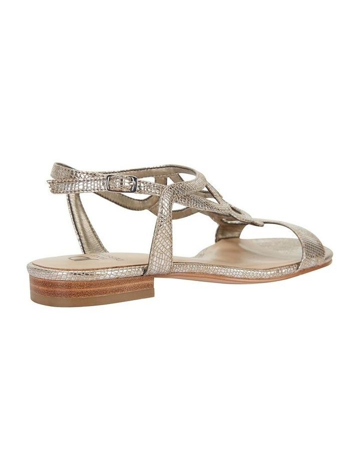 Jane Debster TAHITI Gold Metallic Print Sandal image 4