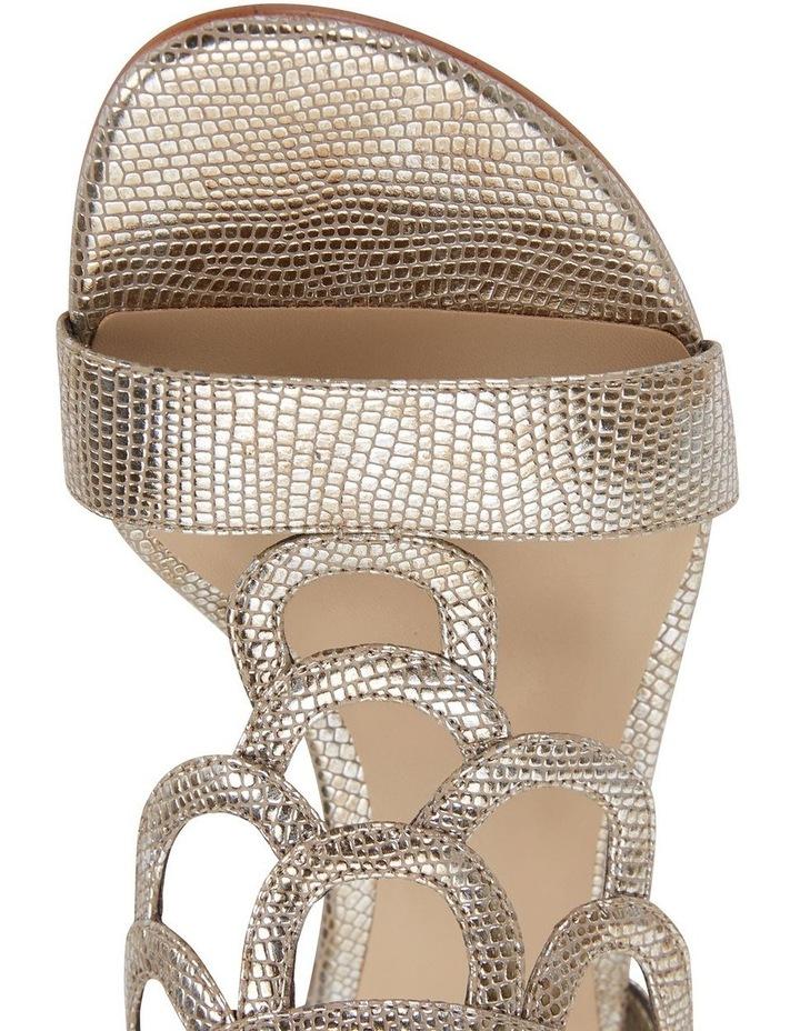 Jane Debster TAHITI Gold Metallic Print Sandal image 6
