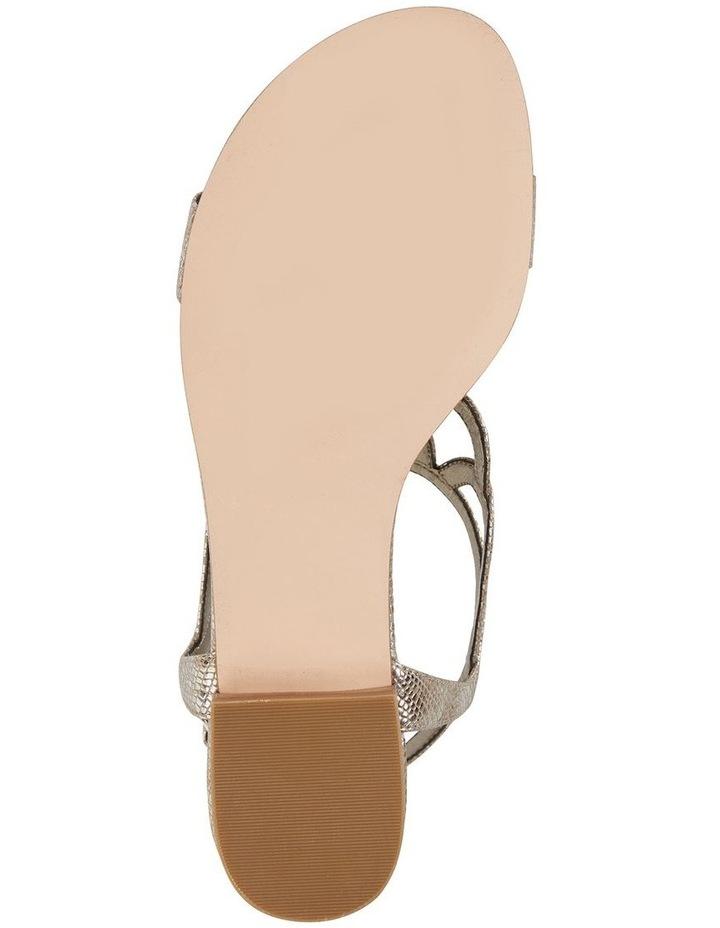 Jane Debster TAHITI Gold Metallic Print Sandal image 7