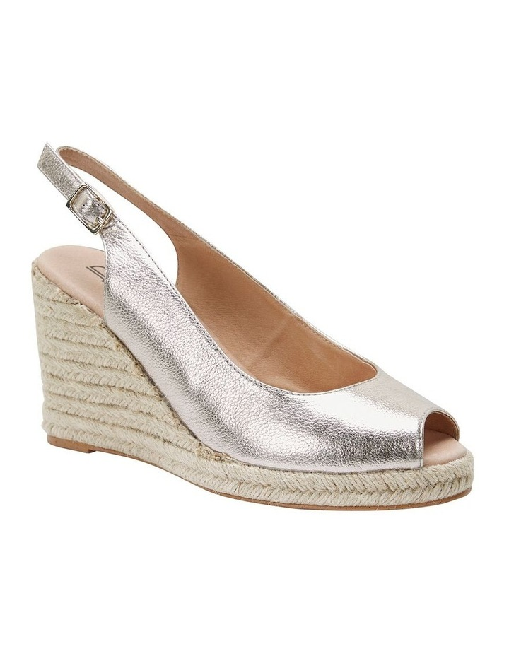 Jane Debster DAKOTA Soft Gold Metallic Crush Sandal image 2