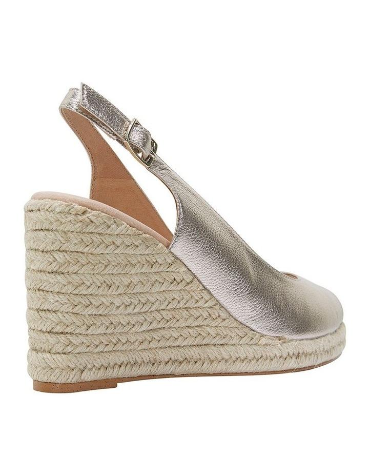 Jane Debster DAKOTA Soft Gold Metallic Crush Sandal image 4