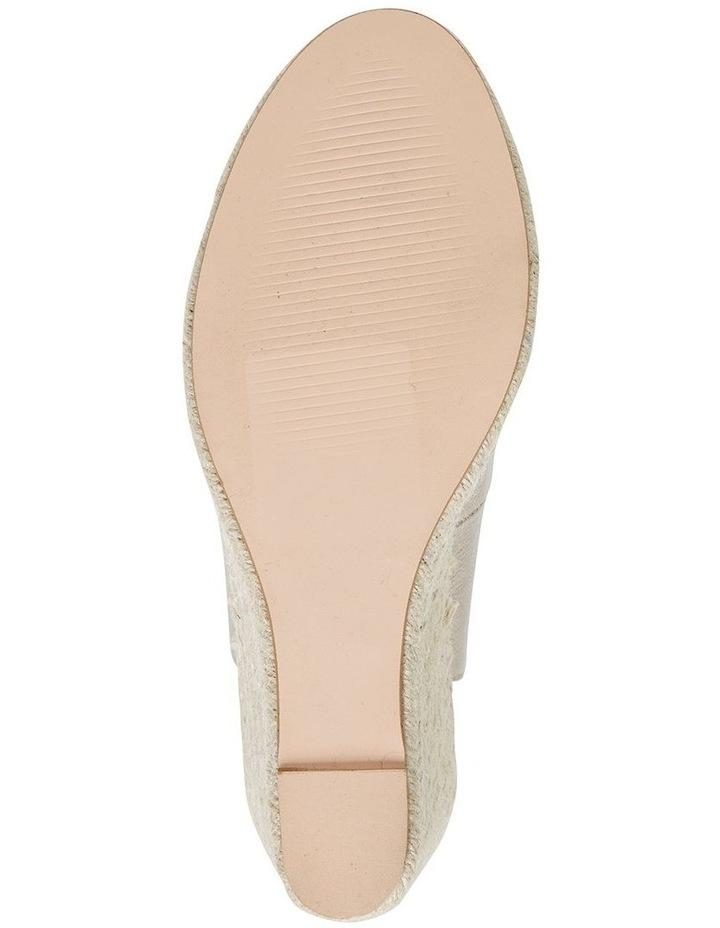 Jane Debster DAKOTA Soft Gold Metallic Crush Sandal image 6