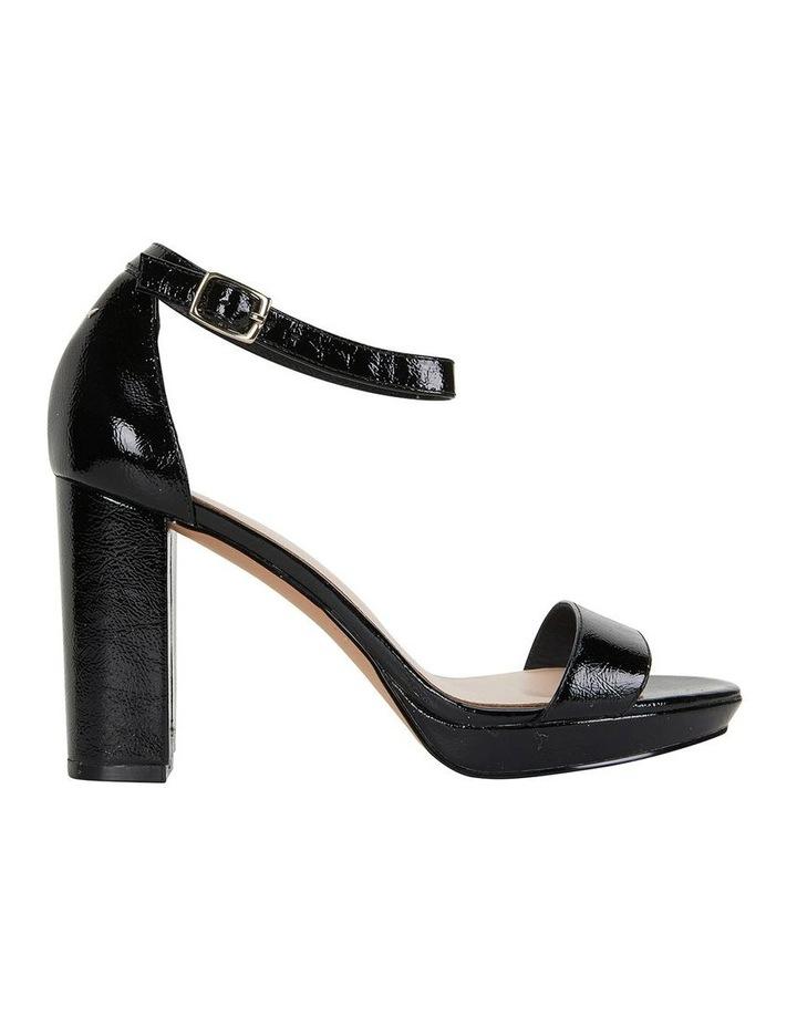 Lush Black Crinkle Patent Sandal image 1