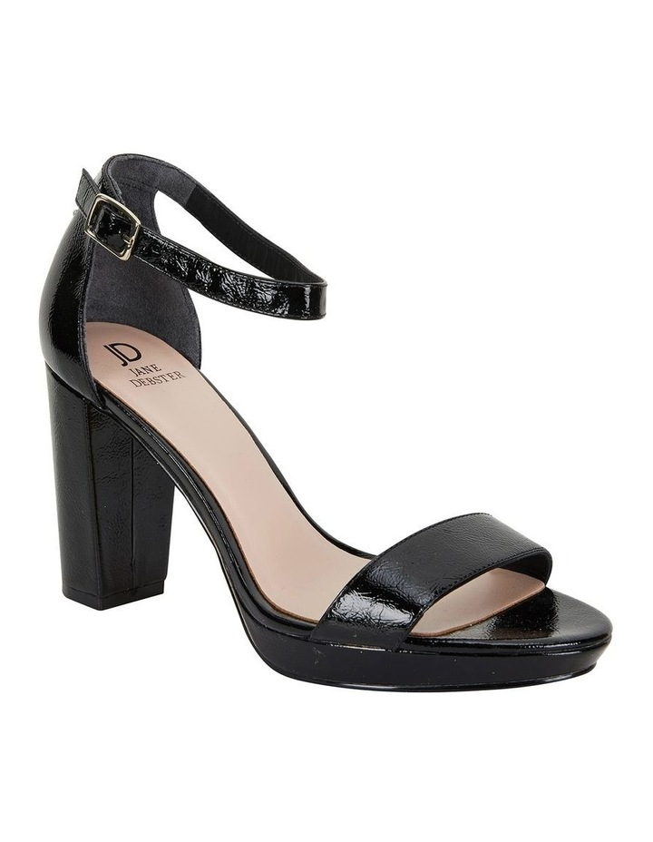 Lush Black Crinkle Patent Sandal image 2