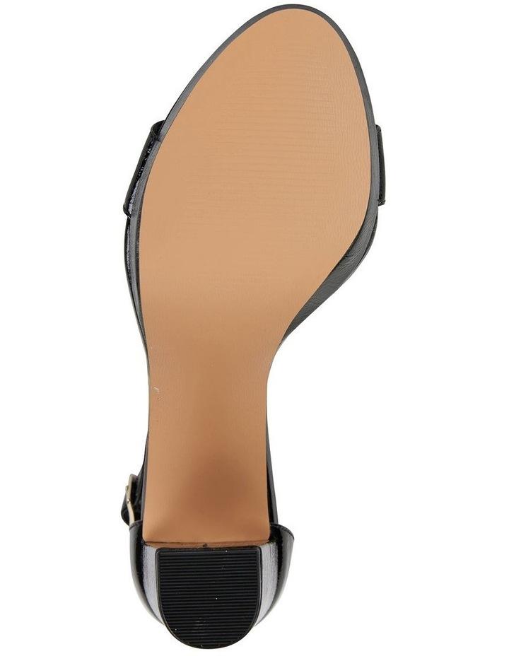 Lush Black Crinkle Patent Sandal image 6