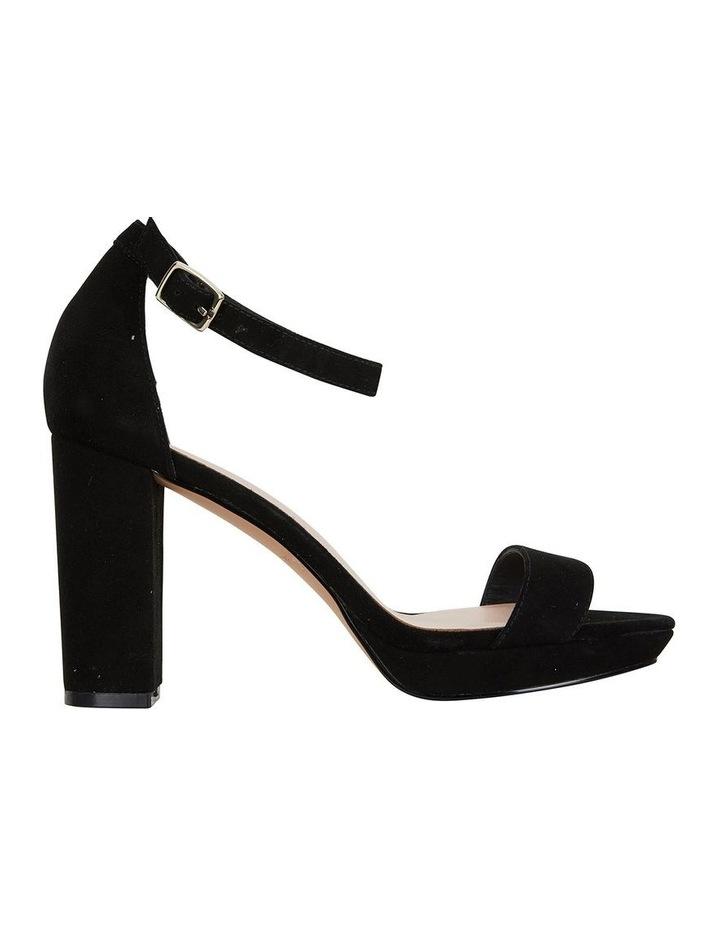 Lush Black Suede Sandal image 1