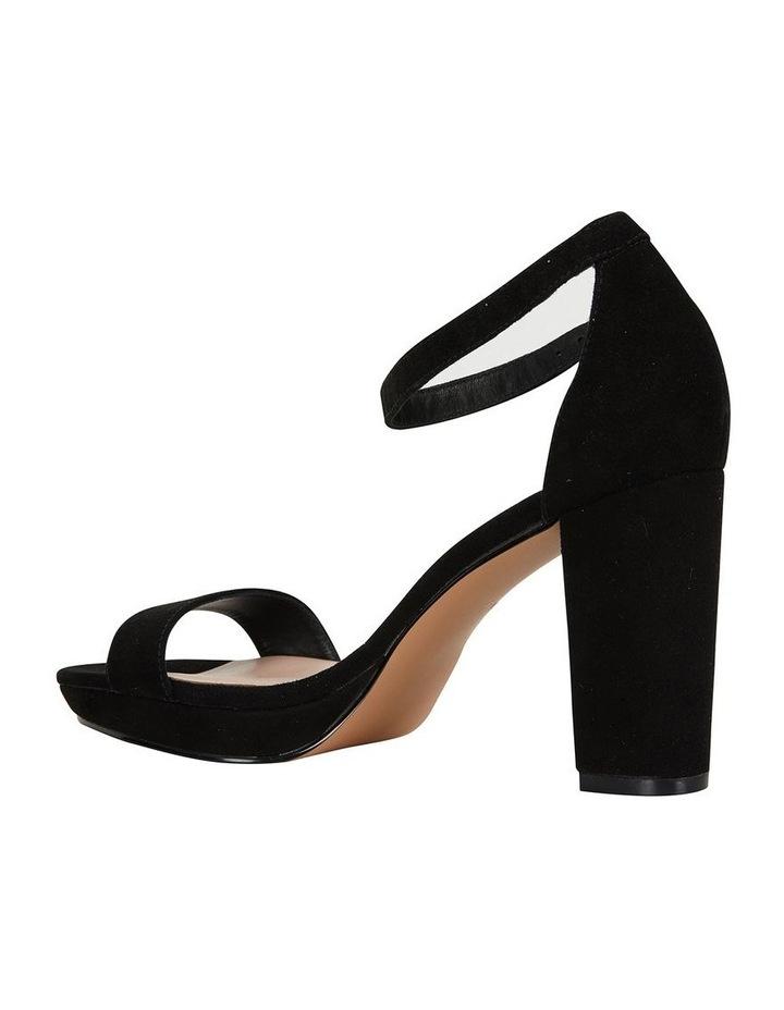 Lush Black Suede Sandal image 4