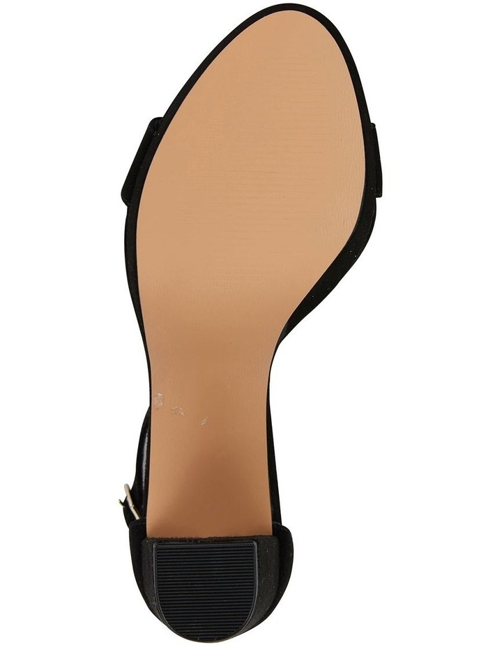 Lush Black Suede Sandal image 6
