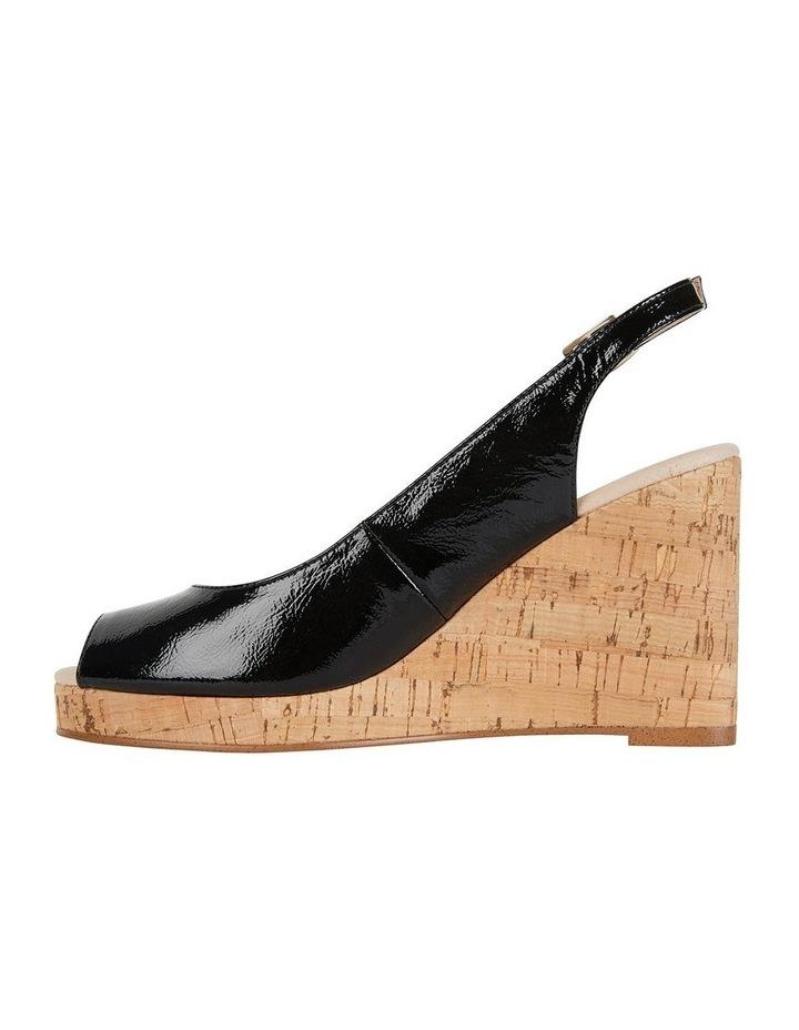Davina Black Crinkle Patent Sandal image 3