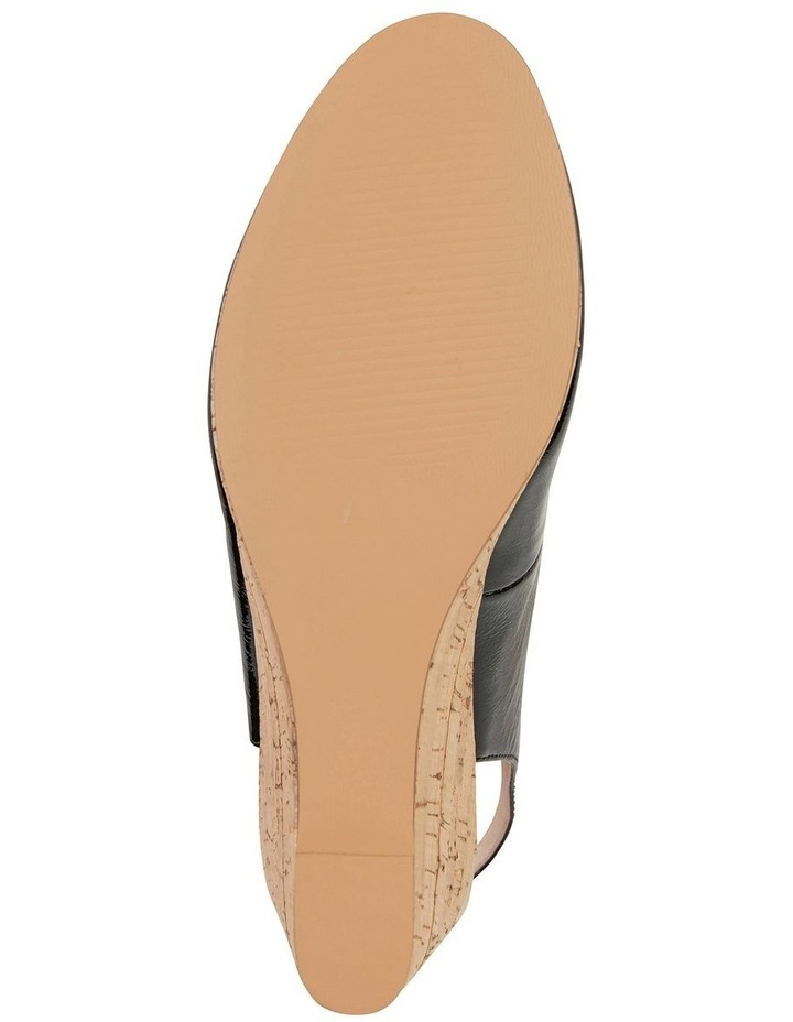 Davina Black Crinkle Patent Sandal image 5