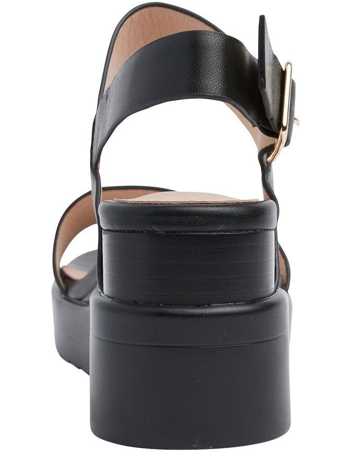 Indiana Black Glove Wedge Sandal image 5