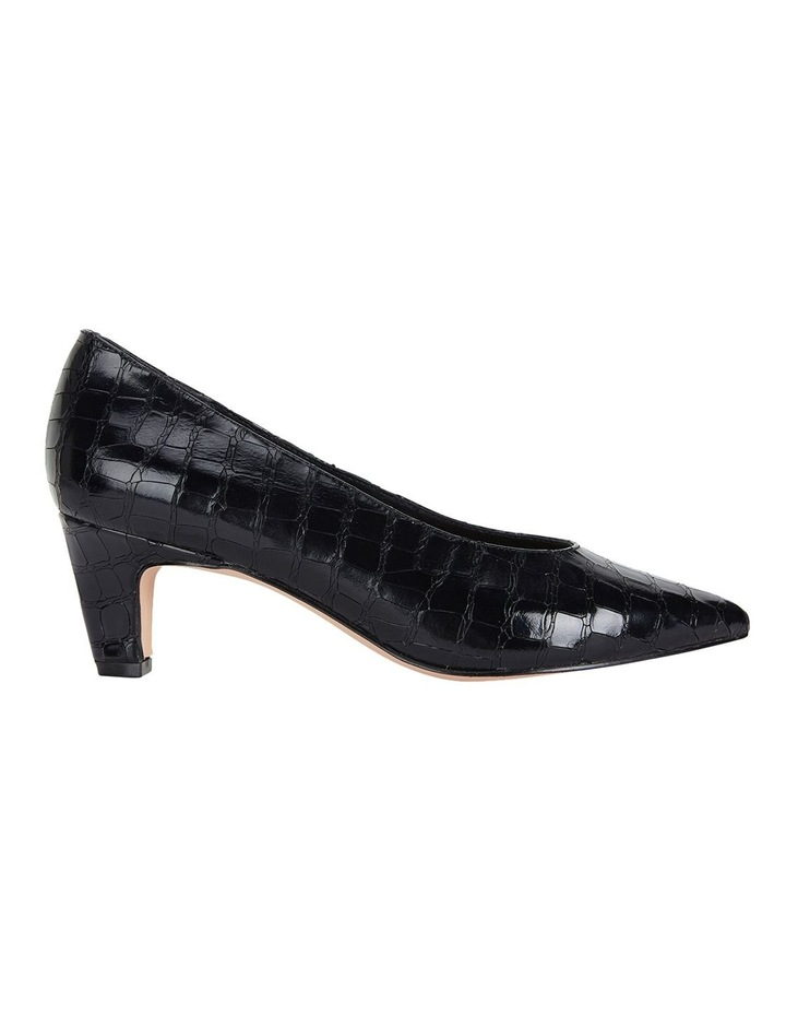 Jane Debster Seduce Black Croc Print Heeled Shoe image 1