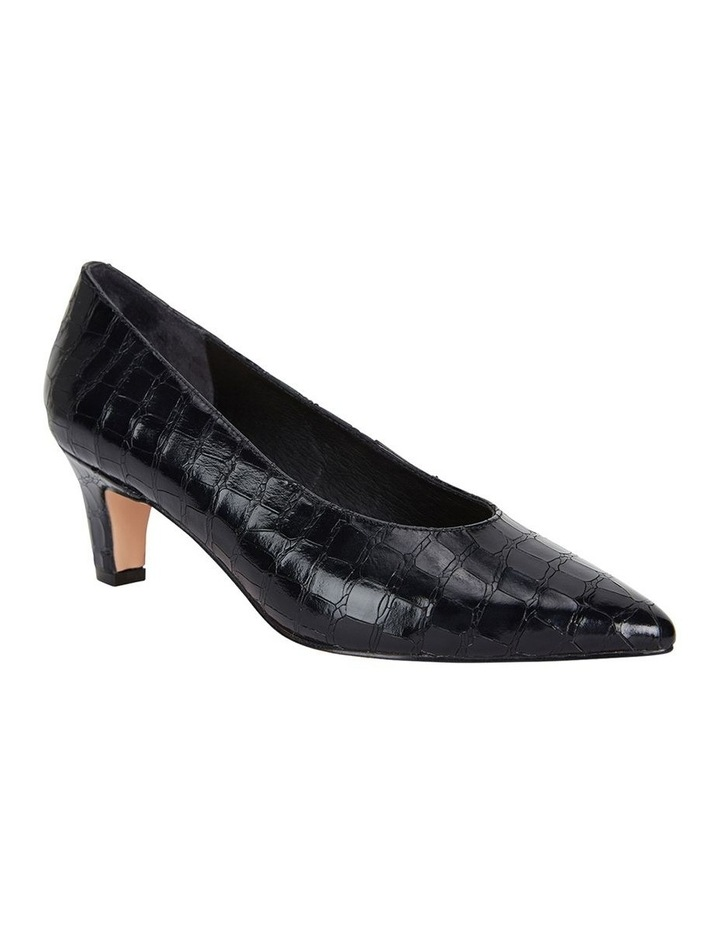 Jane Debster Seduce Black Croc Print Heeled Shoe image 2