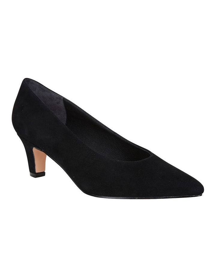 Jane Debster Seduce Black Suede Heeled Shoe image 2