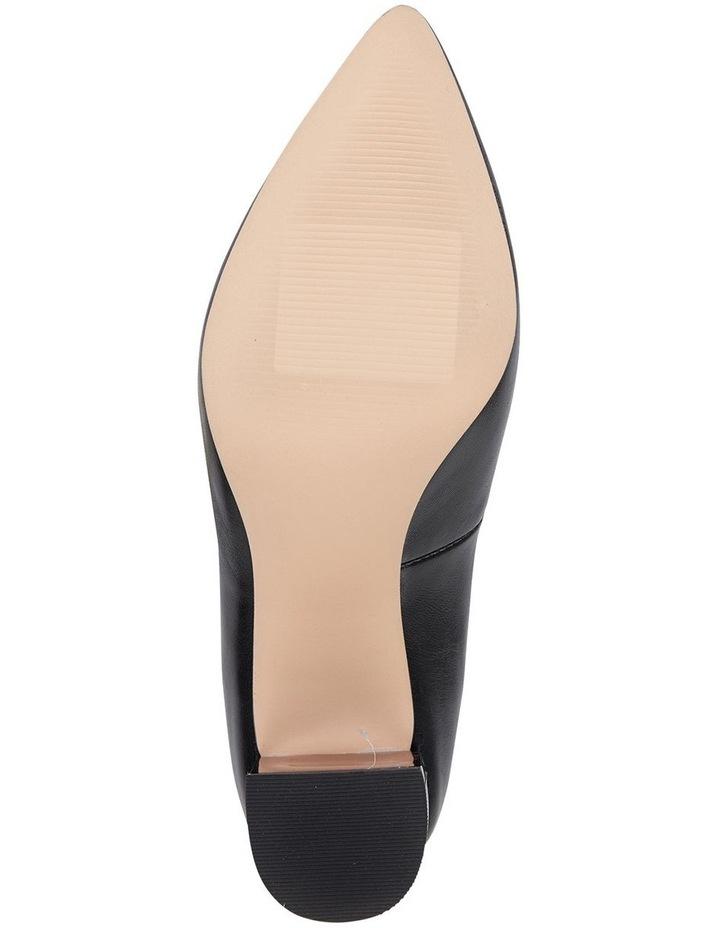 Jane Debster Bonnie Black Glove Heeled Shoe image 6