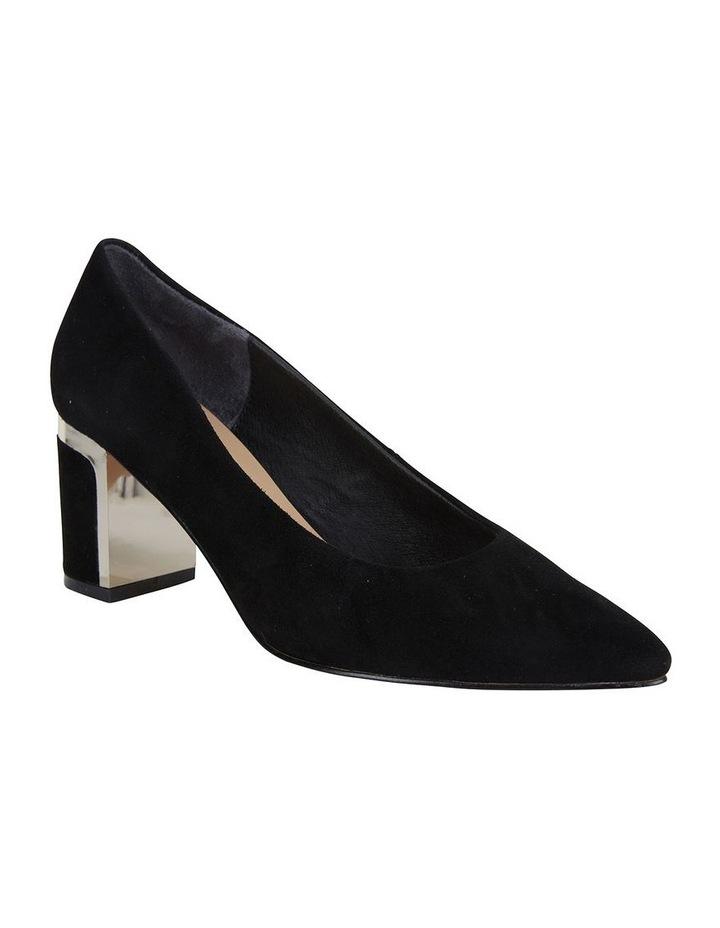 Jane Debster Bonnie Black Suede Heeled Shoe image 2