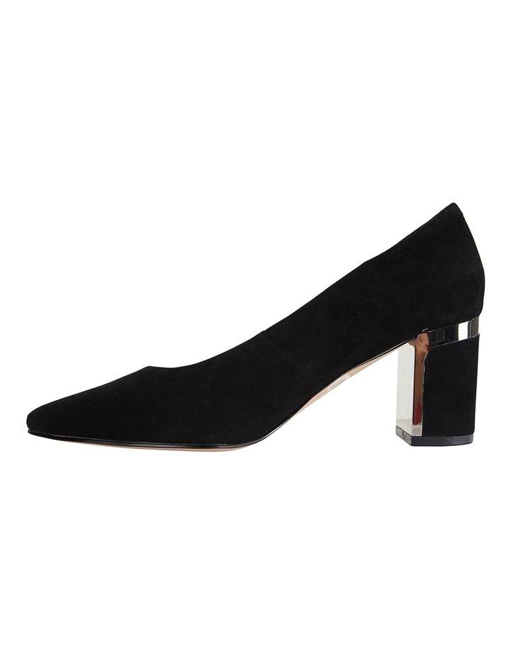 Jane Debster Bonnie Black Suede Heeled Shoe image 3