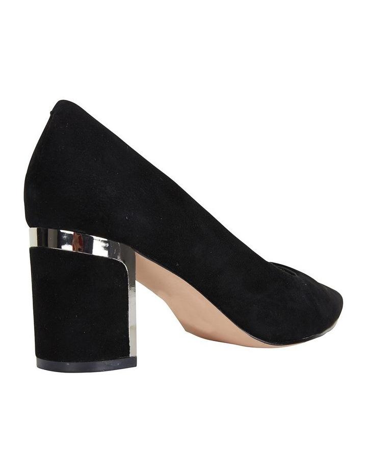 Jane Debster Bonnie Black Suede Heeled Shoe image 4