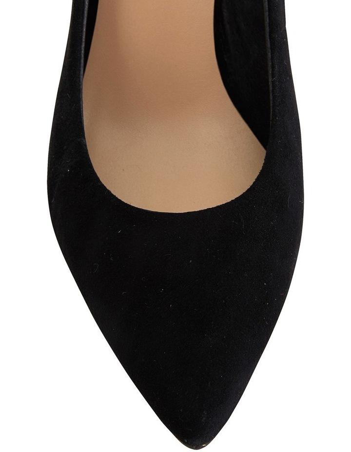 Jane Debster Bonnie Black Suede Heeled Shoe image 7