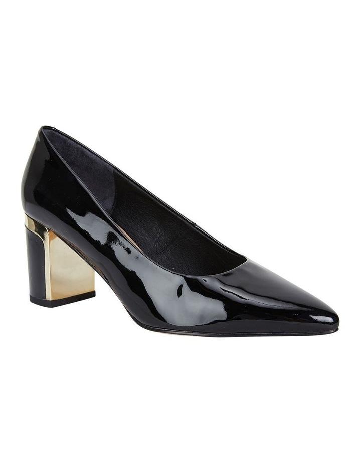 Jane Debster Bonnie Black Patent Heeled Shoe image 2