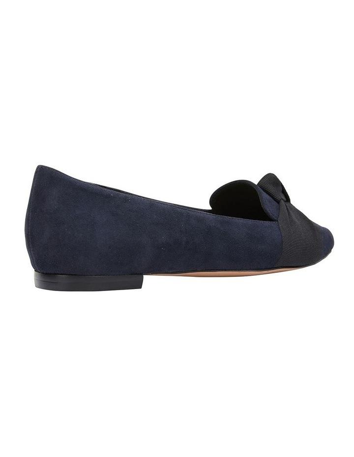 Tango Navy Suede Flat Shoe image 4