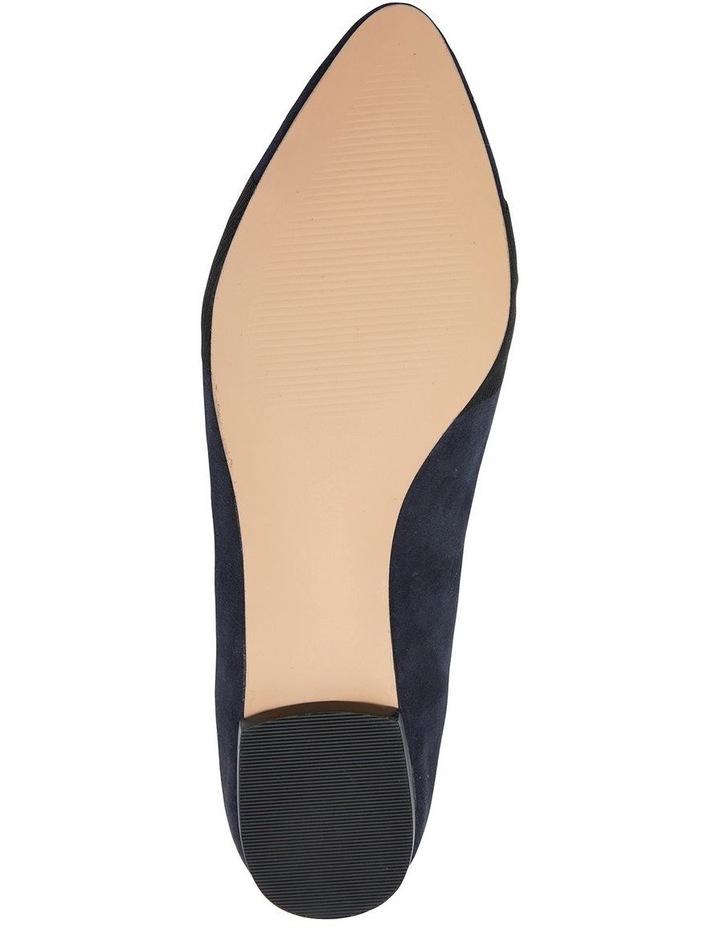 Tango Navy Suede Flat Shoe image 6
