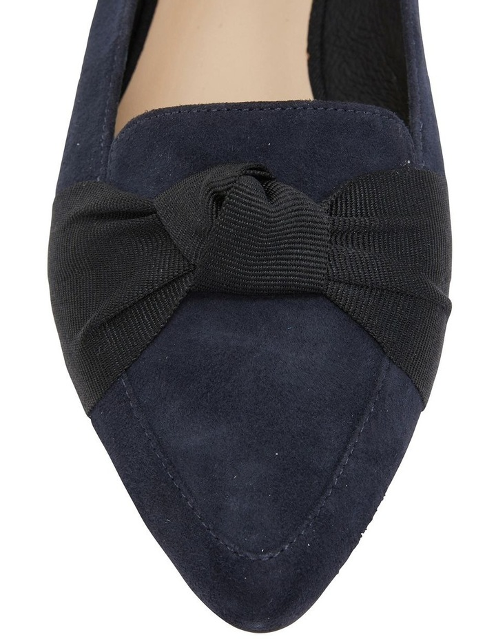 Tango Navy Suede Flat Shoe image 7
