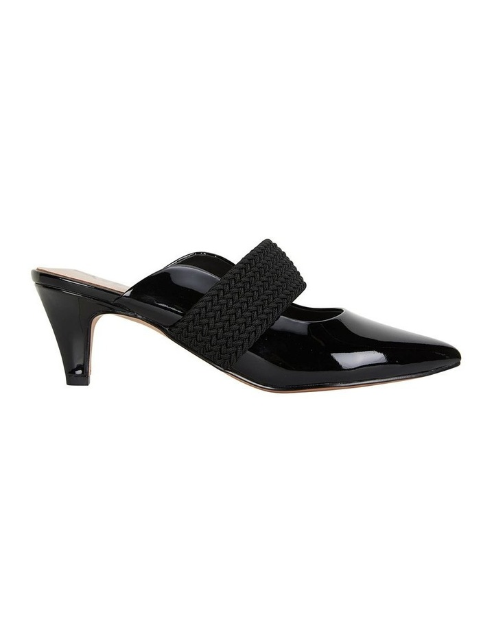 Symbol Black Patent Heeled Shoes image 1
