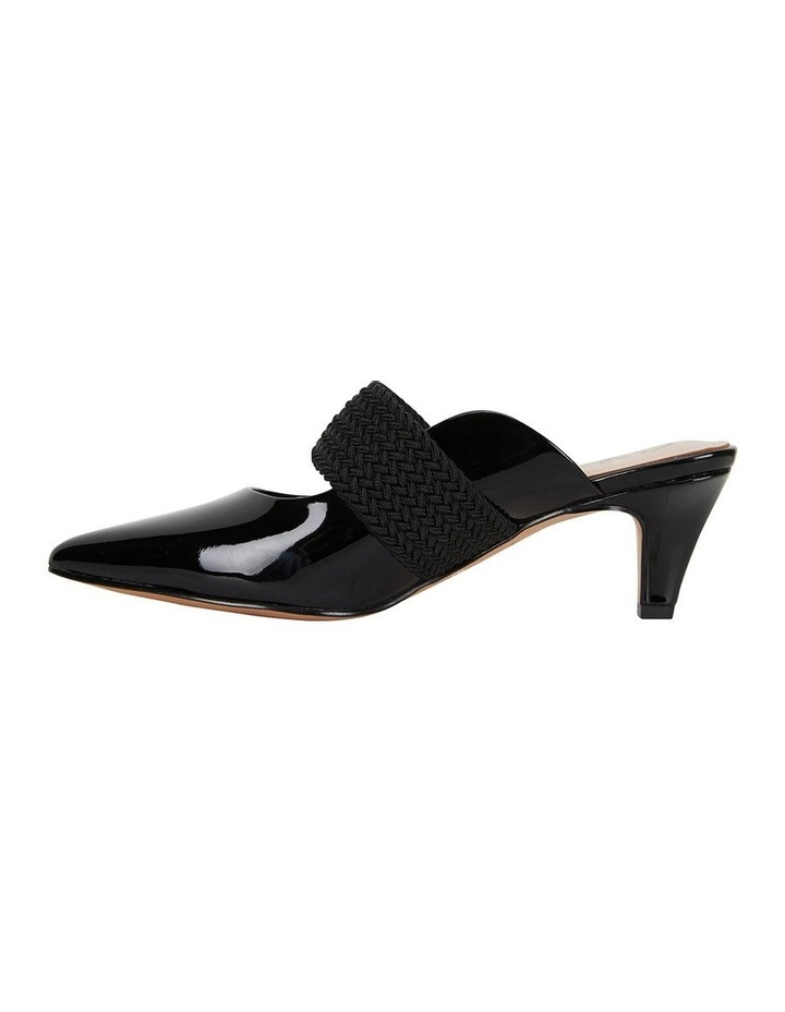 Symbol Black Patent Heeled Shoes image 3