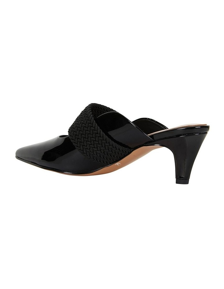 Symbol Black Patent Heeled Shoes image 4