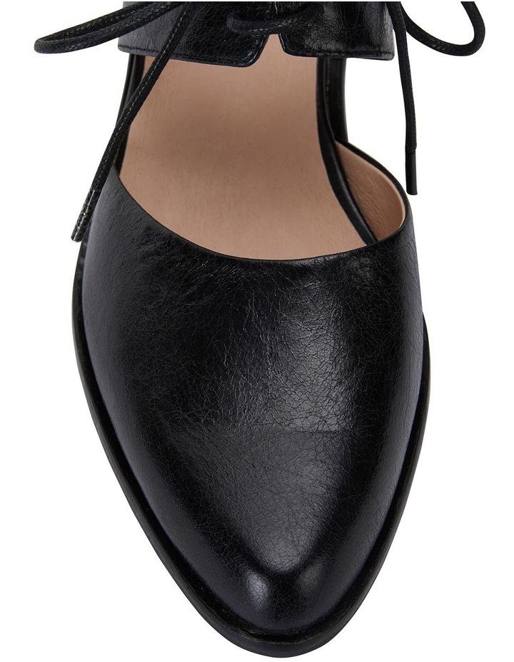 Exhibit Black Oil Flat Shoes image 7