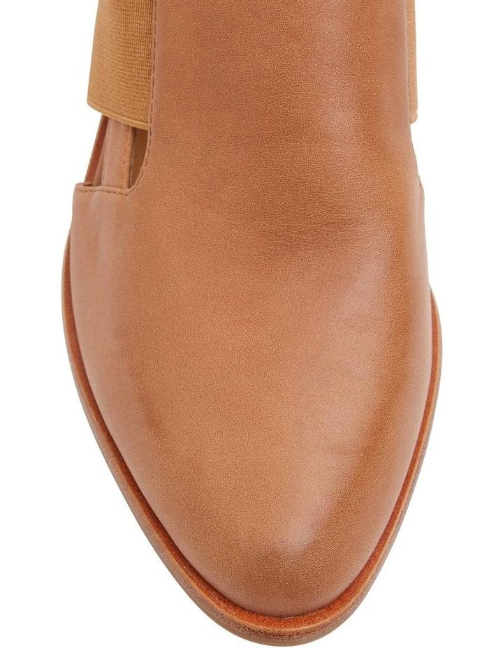 Expose Tan Glove Flat Shoes image 5