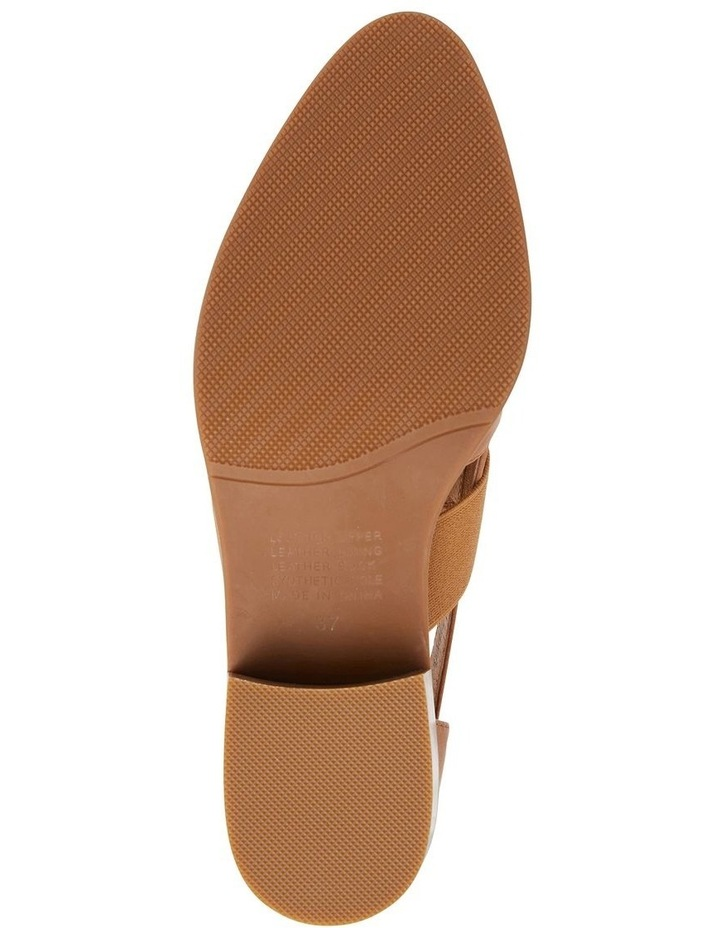 Expose Tan Glove Flat Shoes image 7