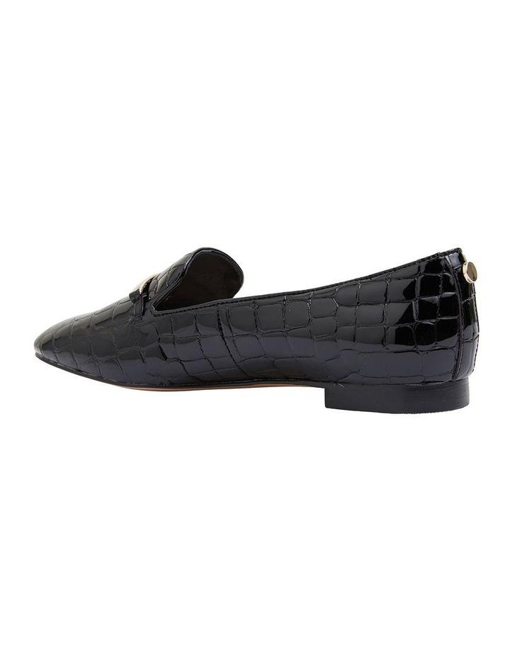 Quantum Black Patent Croc Flat Shoes image 4