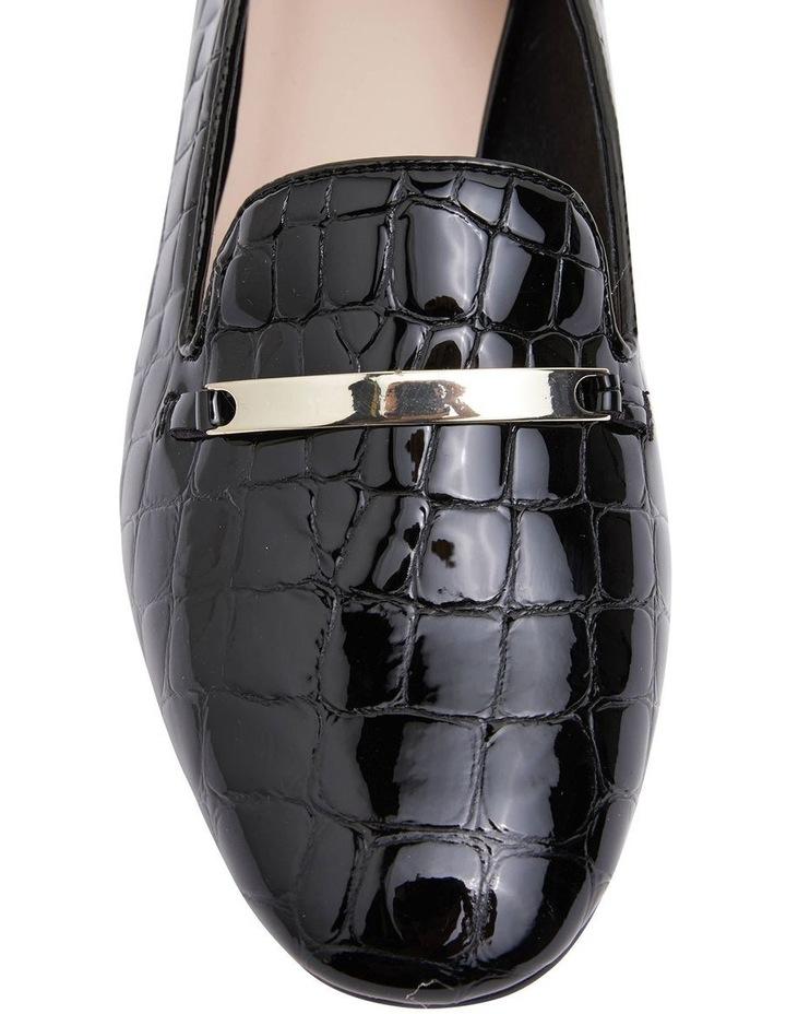 Quantum Black Patent Croc Flat Shoes image 5