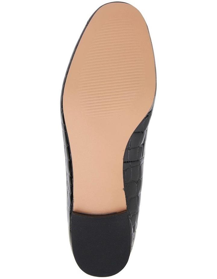 Quantum Black Patent Croc Flat Shoes image 7