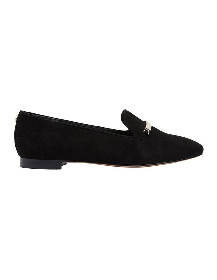 Quantum Black Suede Flat Shoes image 1