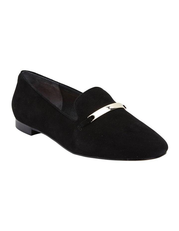 Quantum Black Suede Flat Shoes image 2