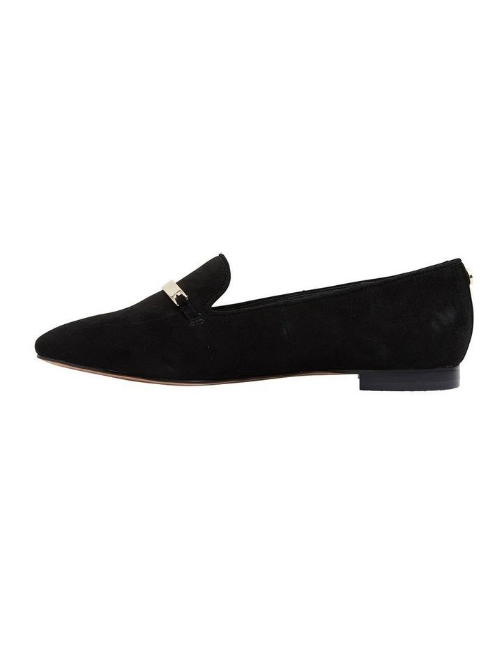 Quantum Black Suede Flat Shoes image 3