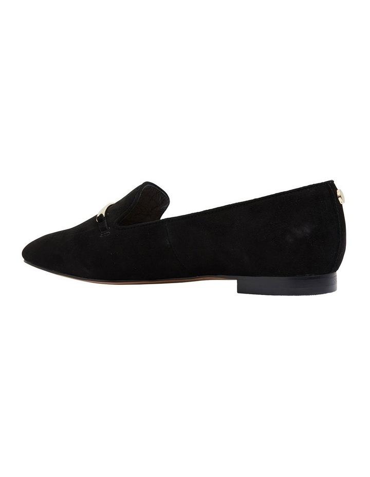 Quantum Black Suede Flat Shoes image 4
