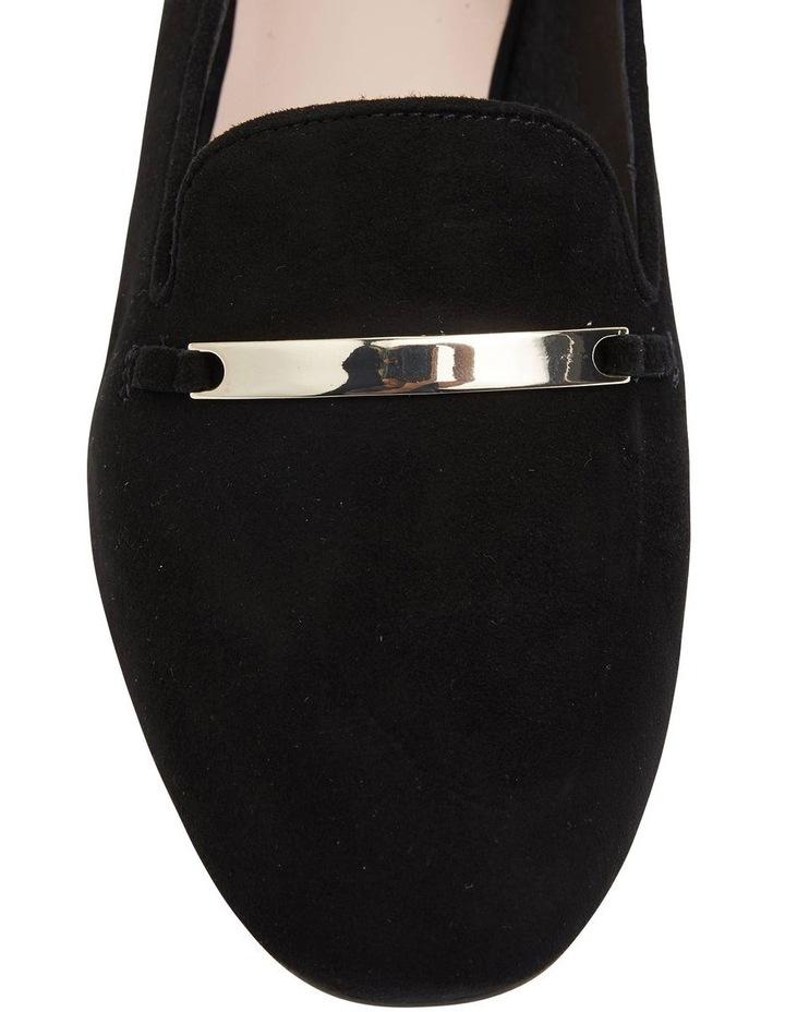 Quantum Black Suede Flat Shoes image 5