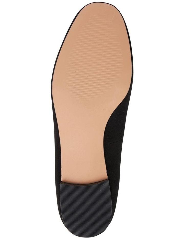 Quantum Black Suede Flat Shoes image 7