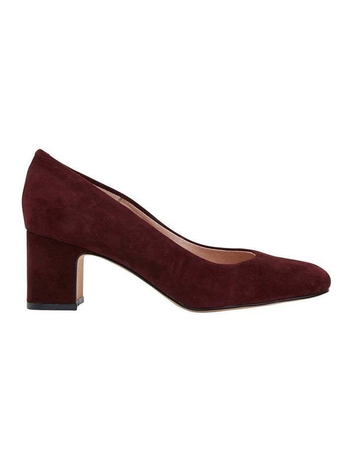 Joyce Burgundy Suede Heeled Shoes image 1