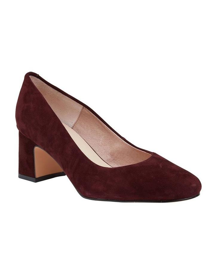 Joyce Burgundy Suede Heeled Shoes image 2